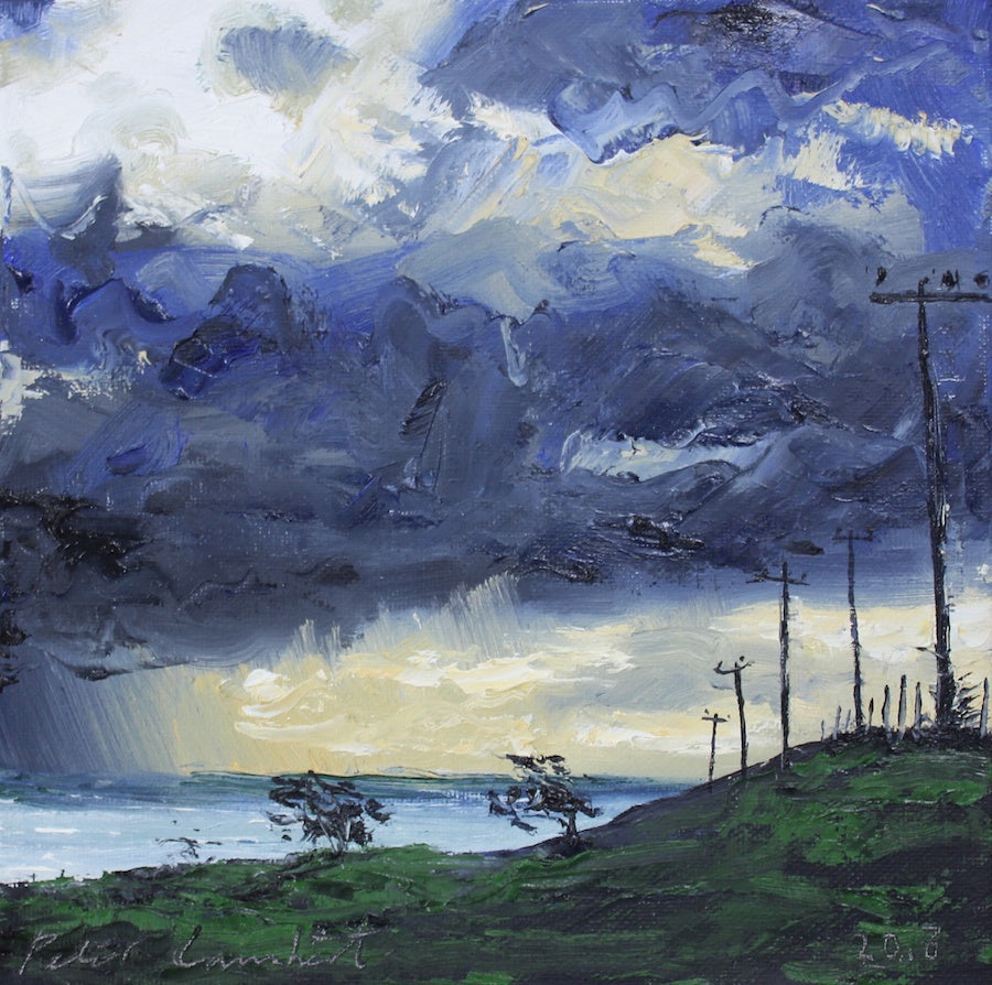 Power poles and dark clouds (SOLD)