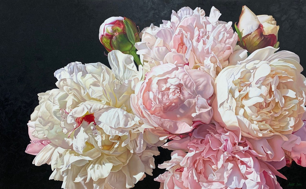 Porcelain Peonies (SOLD)