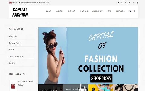 Capital of Fashion - Modern Fashion Store