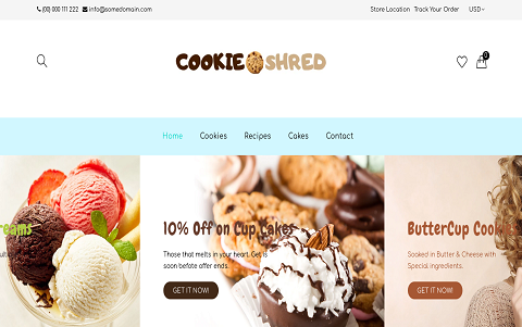 CookieShred | Bakery - Cookie & Food Shop