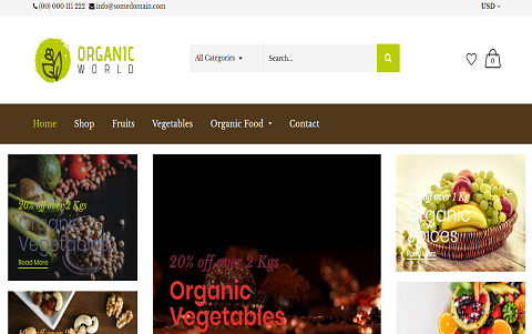 Organicashop - Food and Drink Shop