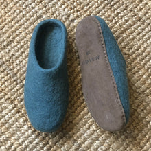 Load image into Gallery viewer, Mita Felt Slipper I Teal