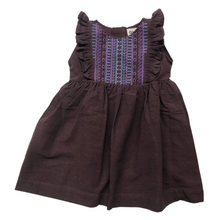 Load image into Gallery viewer, Iris Embroidered Dress Mahogany
