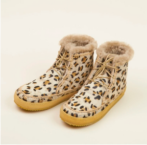 Argo Lace Up Ankle Boot I Leopard Beige