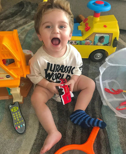Baby Plays With Pretend Toy Remote