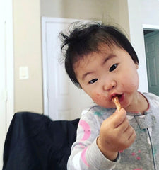 Baby Boy Enjoy's His Food With A Messy Face