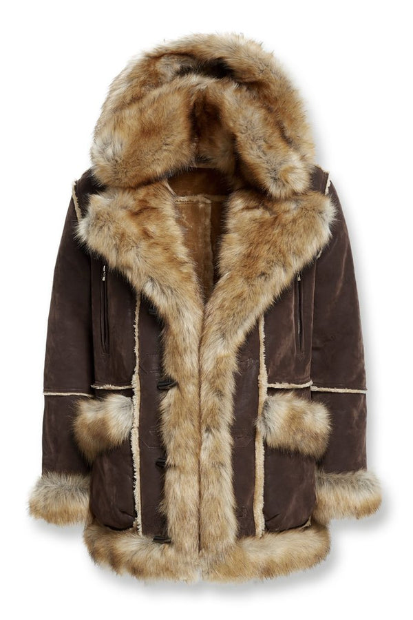 Jordan Craig Fashion Shearling Coat Brown