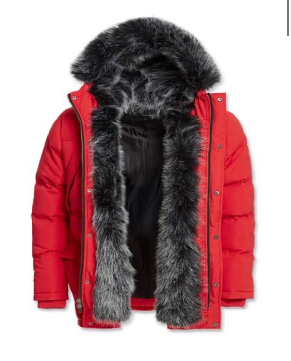 Jordan Craig Heavy Parka winter Coat Red 91397