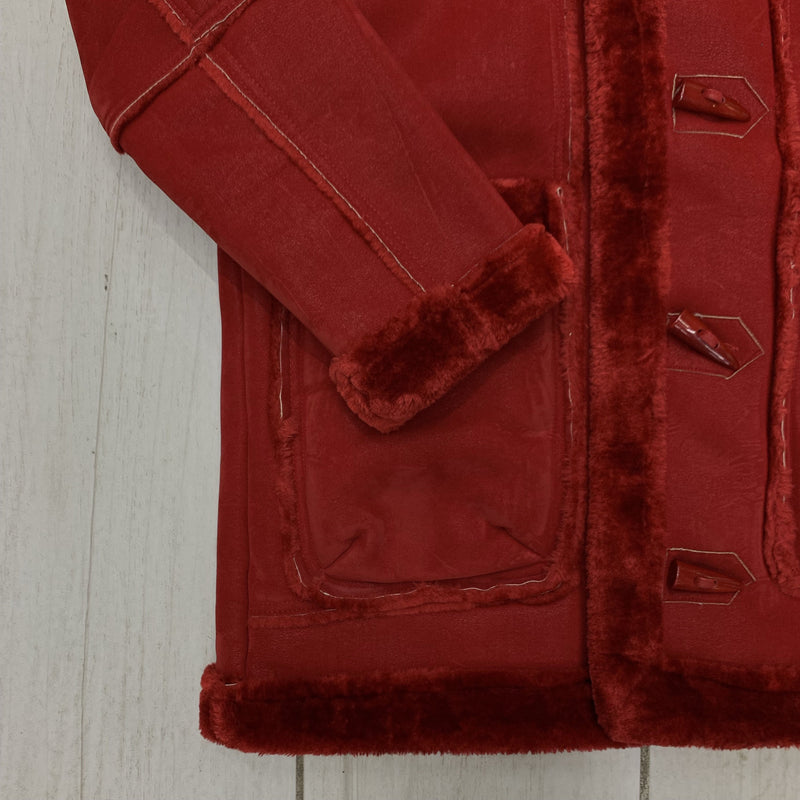 Jordan Craig Shearling Coat Red 19