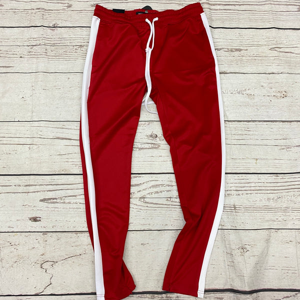 Rebel Mind Track Pants Red/White  z