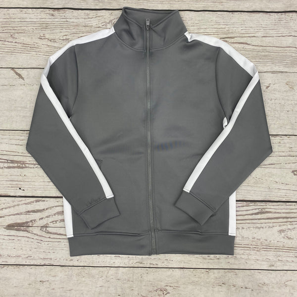 Rebel mind Track Jacket Grey White