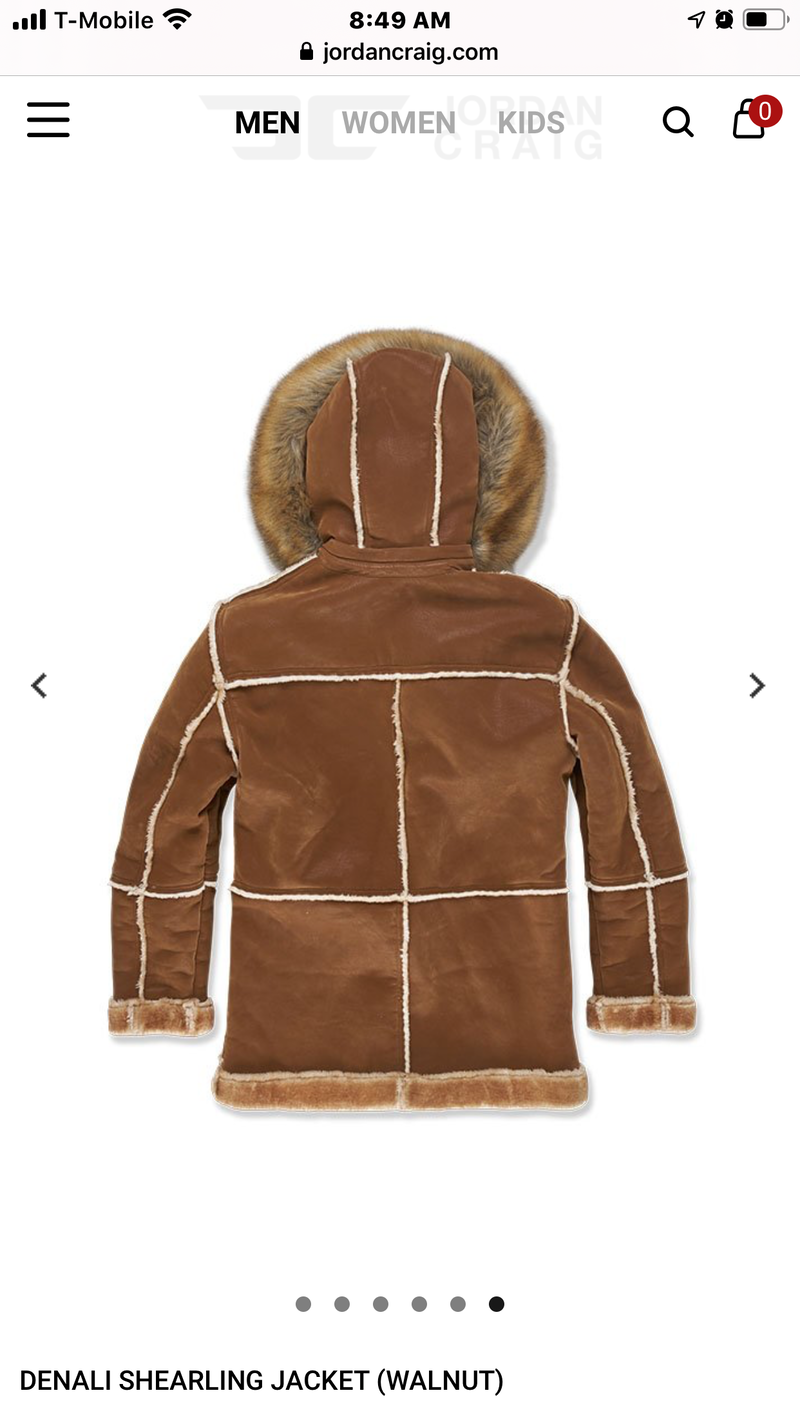 Jordan Craig Shearling Coat Walnut  91445 20