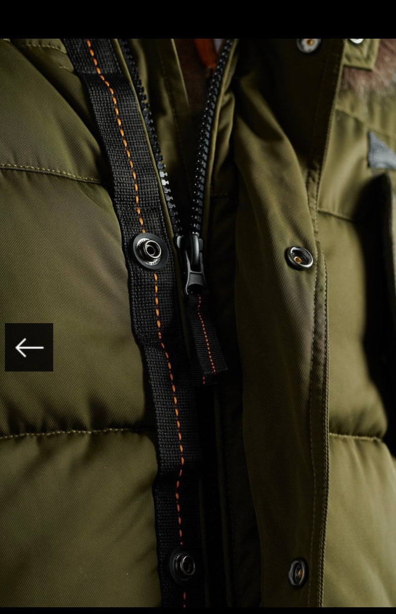 SuperDry Chinook Parka Coat Army