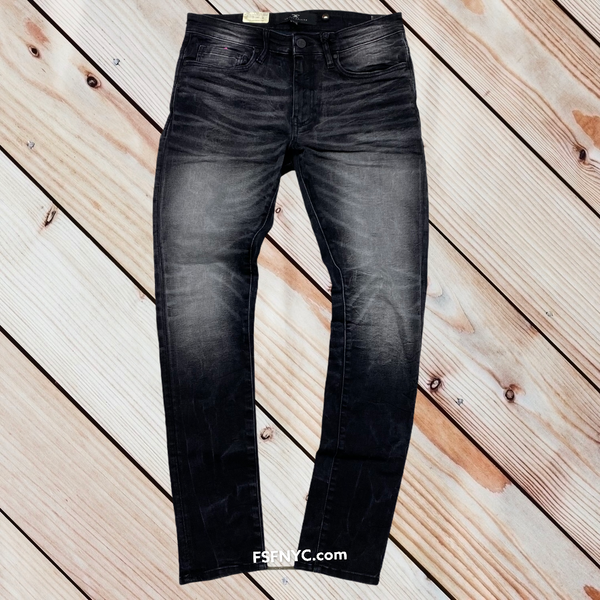 Jordan Craig plain Slim fit jeans industrial Black  js200