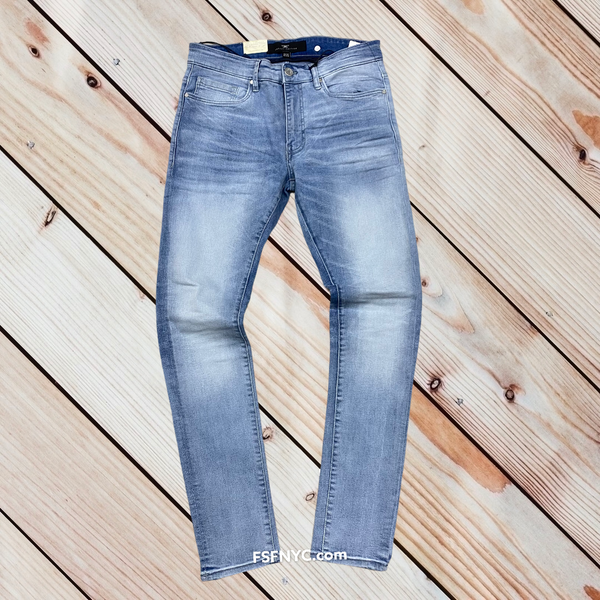 Jordan Craig plain Slim fit jeans lighting Blue js200