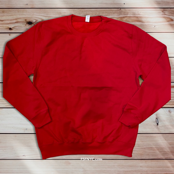 FSF Blank Crew Sweatshirt Red