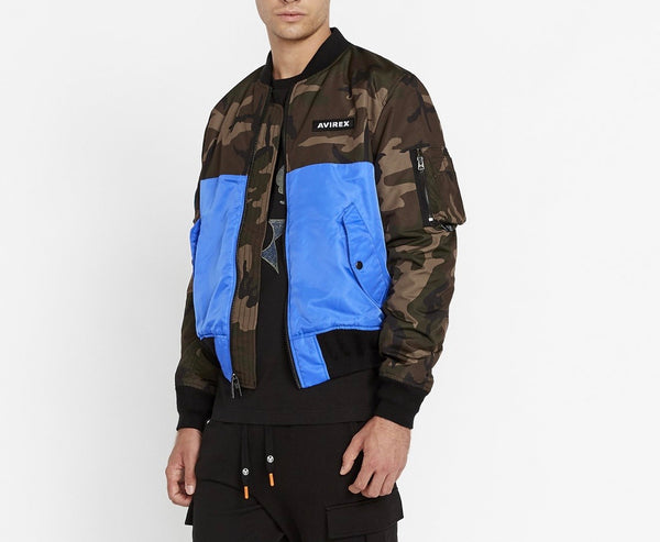 Avirex Bomber Coat Royal Camo