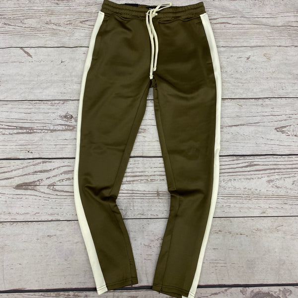 Rebel Mind Track Pants Olive/Cream