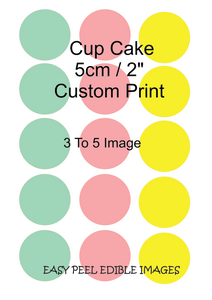 Edible Cup Cake Toppers 3-5 Images