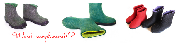 FeltWoolSlippers.com - organic wool boots, shoes, slippers, clogs