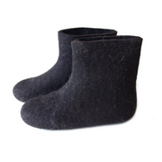 Organic Wool Short Boots Black