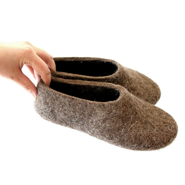 Eco Friendly Women House Shoes Beige Brown