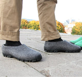 Charcoal Felt Shoes for Men