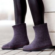 Eco Friendly Felt Boots Black