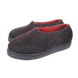 Supernatural Wool Felted Shoes Black Red