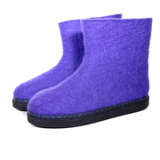 Natural Wool Boots Lavender