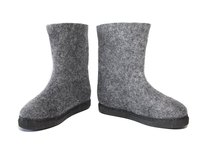 Sustainable Wool Booties Gray