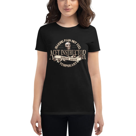 ACFT Instructor Women's short sleeve t-shirt