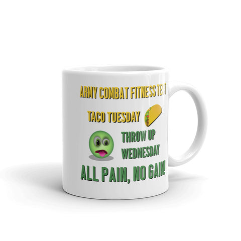 Taco Tuesday, Throw Up Wednesday Ceramic Mug
