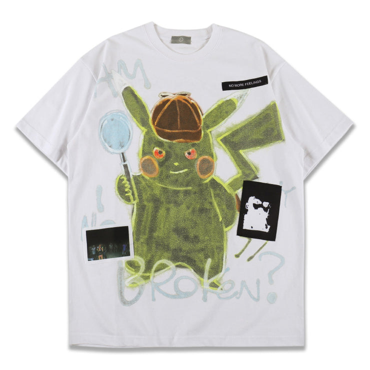 DARK PIKACHU GRAFFITI PRINT LOOSE TEE