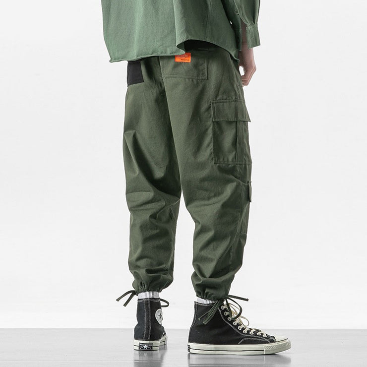 Multi-pocket Loose Straight Trousers