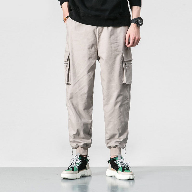 Multi-pocket Straight Pants