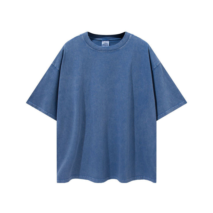 Edging Solid Color Vintage Tee