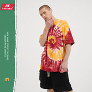 Two-color Vortex Tie-Dye Loose Tee