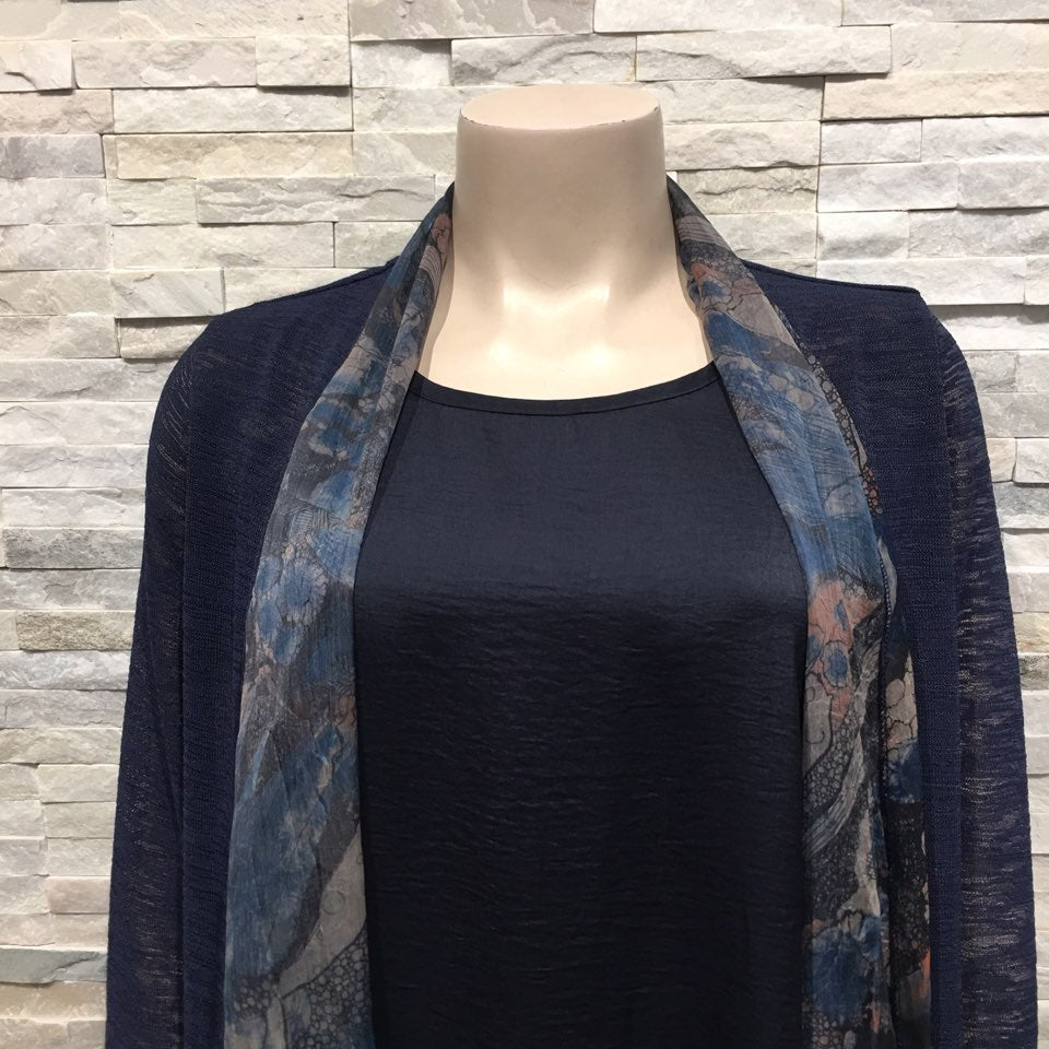 Cardigan - printed scarf style