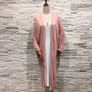 Knit Pink Long Cardigan