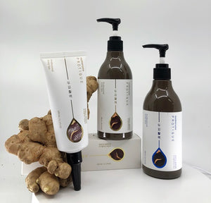 Protique Black Ginger Scalp Vitality Scaler,  Shampoo and Conditioner