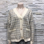 Cardigan V Neck with pattern