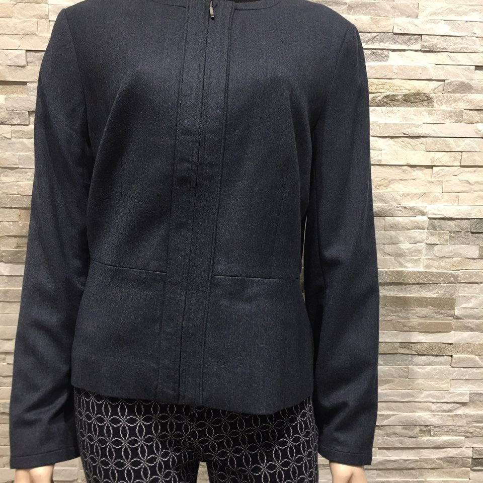 Round neck with Zipper Short Jacket