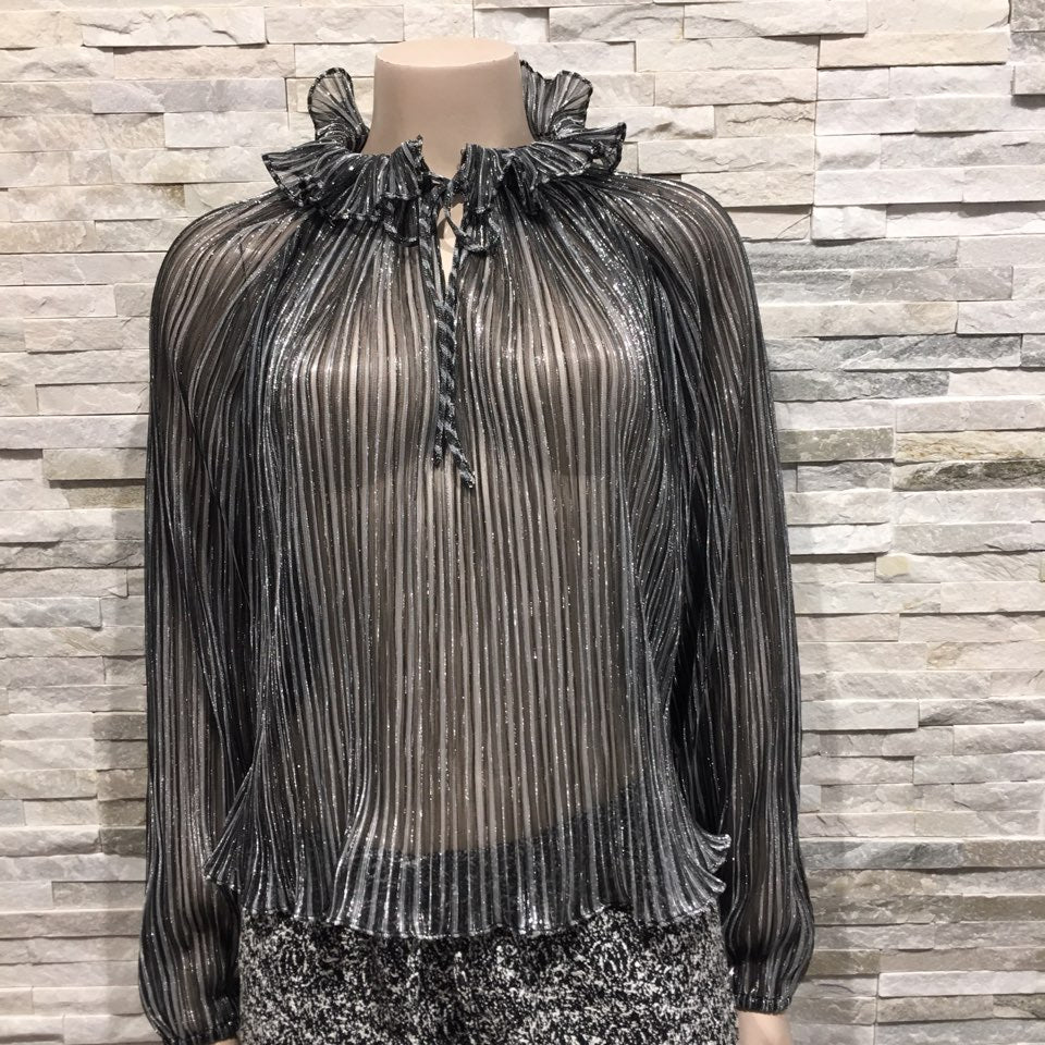 Blouse with high-neck