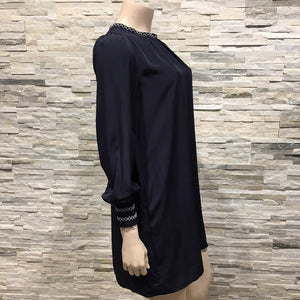 Navy dress - three quarter sleeves