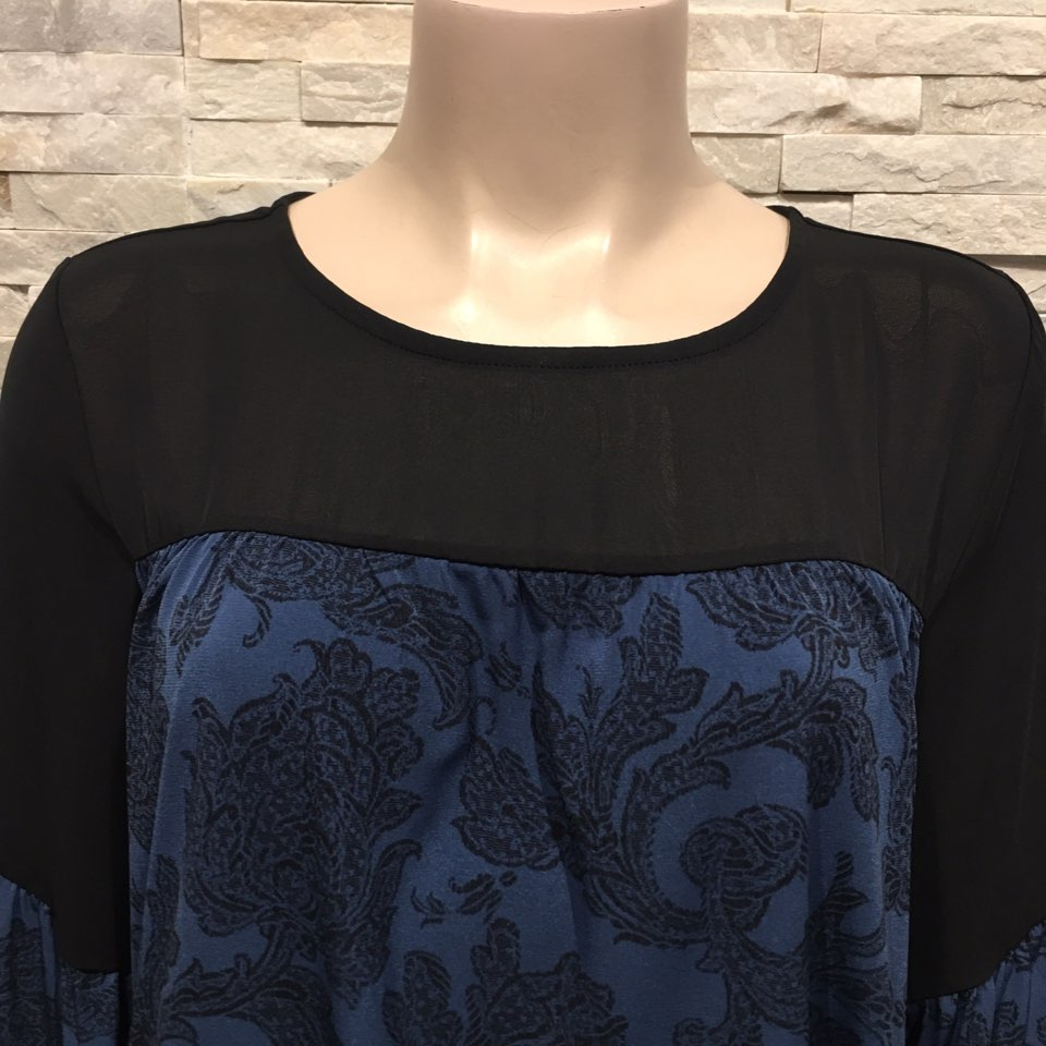 Blue printed Blouse US brand