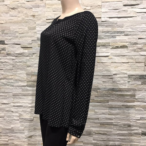 Wide Neck,  printed Blouse US brand