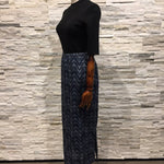 Skirt - Long with wave print