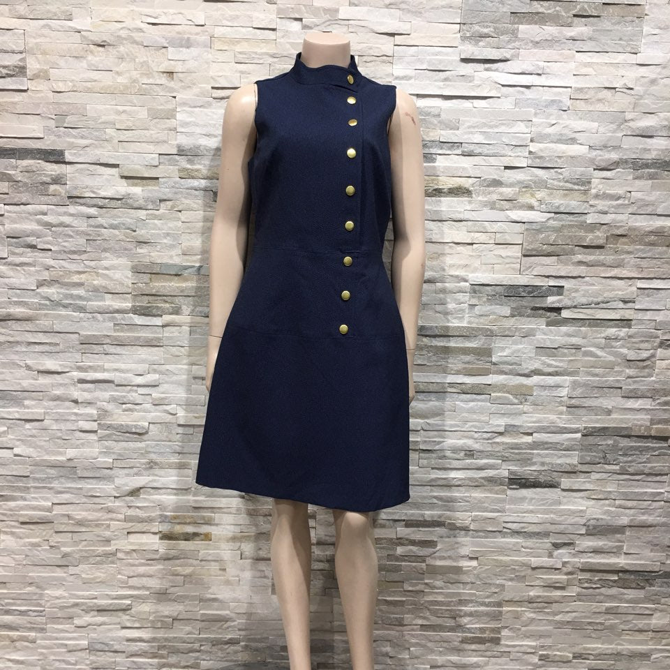 button down  navy Dress