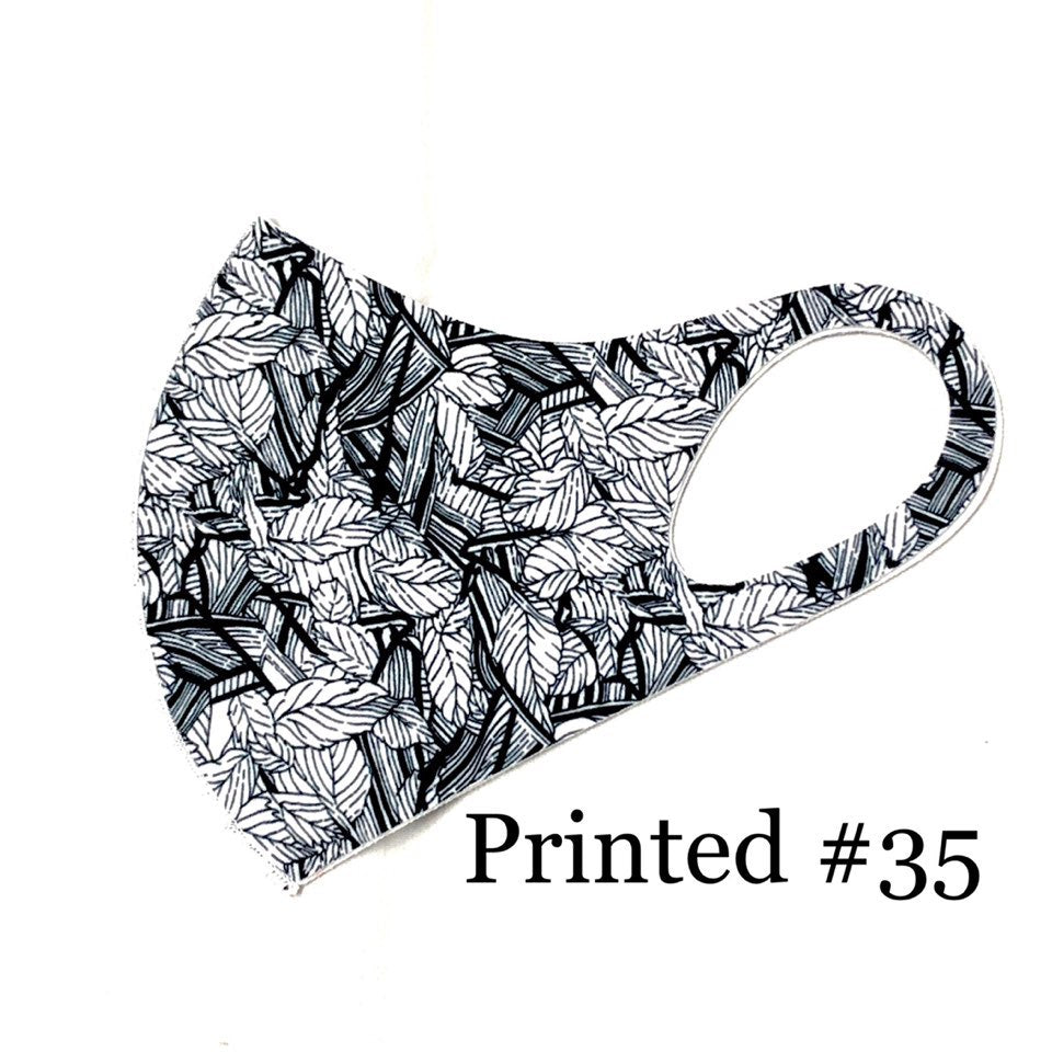 Printed  washable mask